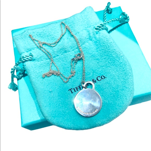 Authentic TIFFANY & CO Large Round Tag Necklace